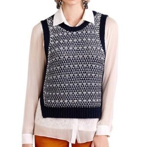 Anthropologie MOTH knit sweater vest, Sz small